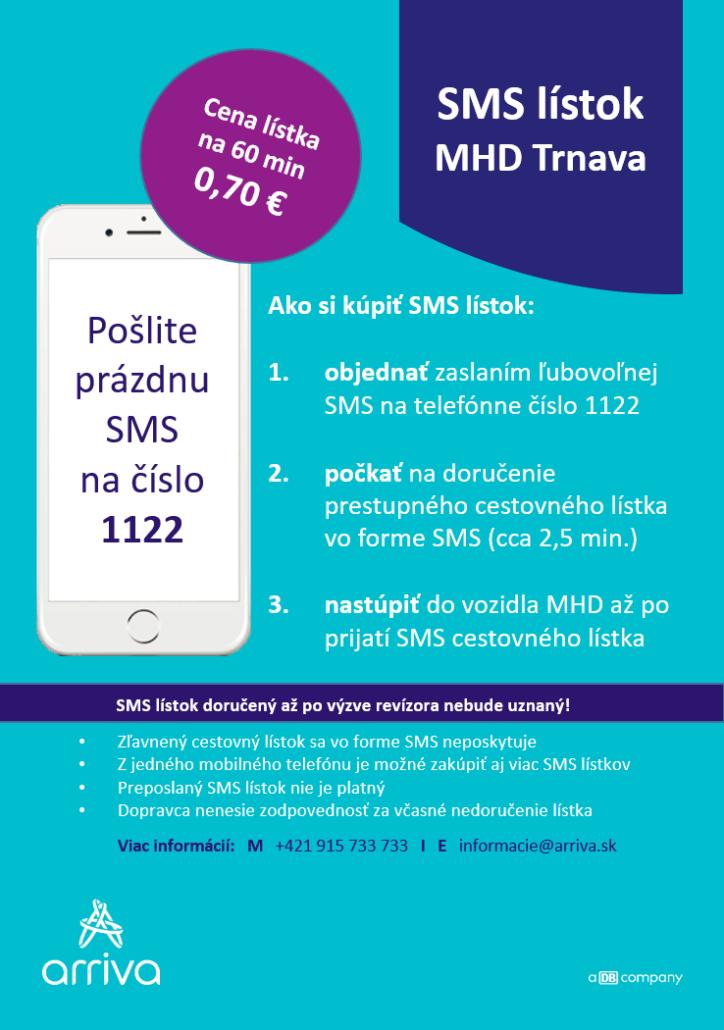 SMS lístok Trnava